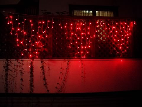 LED icicle Red